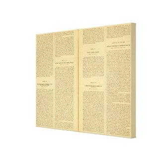 Atlas histórico 3 impresiones de lienzo