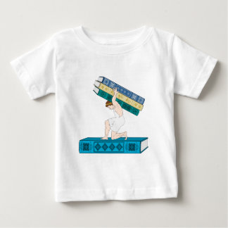 Atlas Holding Stack of Books Baby T-Shirt