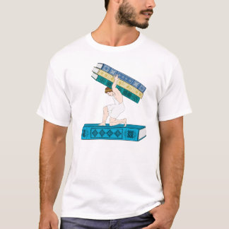 Atlas Holding Stack of Books T-Shirt