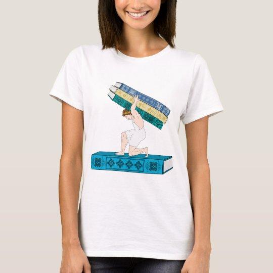 Atlas Holding Stack of Books T-Shirt