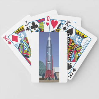 Atlas icbm at strategic air space museum Nebraska Bicycle Playing Cards