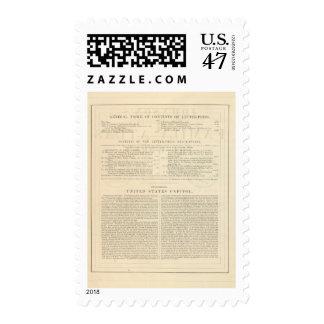 Atlas ilustrado de la familia de Johnson del dorso Timbre Postal