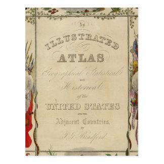 Atlas ilustrado de la página de título de los Esta Tarjeta Postal