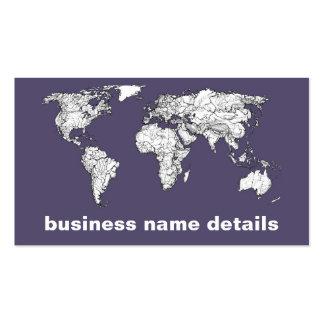 Atlas in dark lilac business card