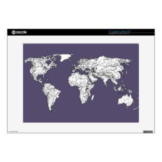 Atlas in dark lilac laptop decals