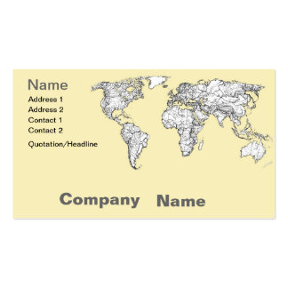 Atlas in ivory cream business card template