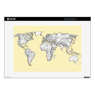 """Atlas in ivory cream skin for 15"""" laptop"""