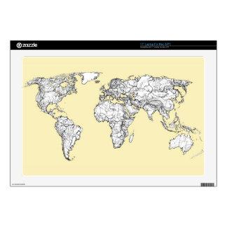 Atlas in ivory cream laptop decals