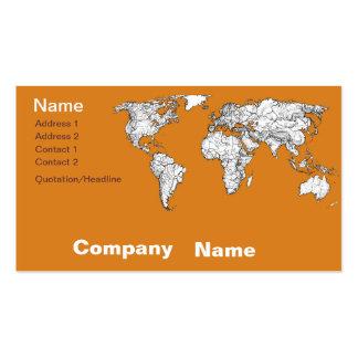Atlas in orange business card templates