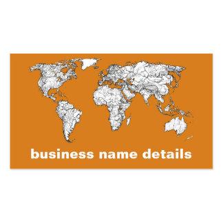 Atlas in orange business card template