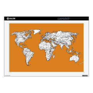 Atlas in orange laptop skin