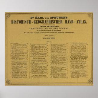 Atlas interior de la mano de Historischgeographisc Posters