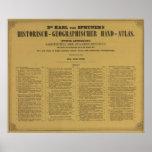 Atlas interior de la mano de Historischgeographisc Póster