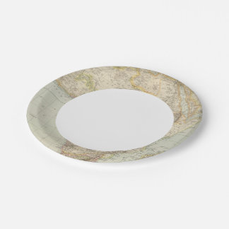 Atlas Map of Africa Paper Plate
