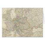 Atlas Map of Europe Card