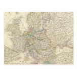 Atlas Map of Europe Postcard