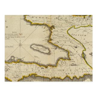 Atlas Map of Haiti Postcard