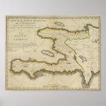 Atlas Map of Haiti Poster