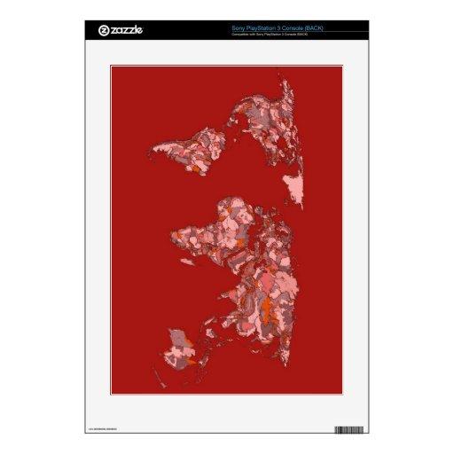 atlas marrón rojo PS3 calcomanías