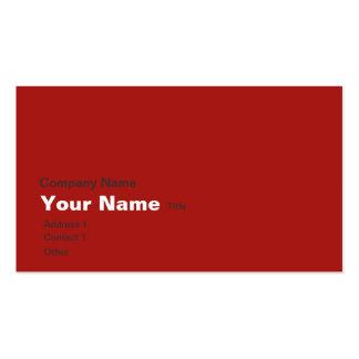 Atlas marrón rojo tarjetas de visita
