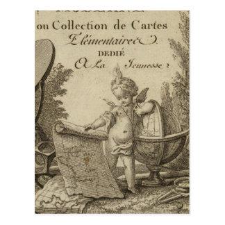 Atlas moderno de la página de título pequeño tarjetas postales