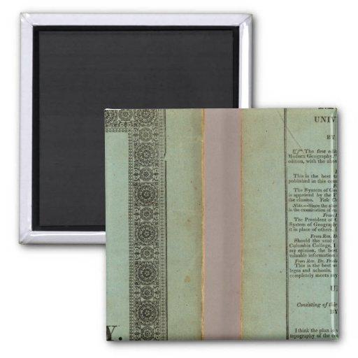 Atlas moderno imán cuadrado