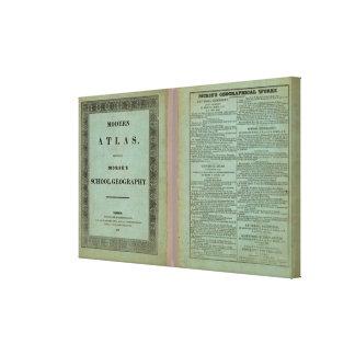 Atlas moderno impresiones en lona