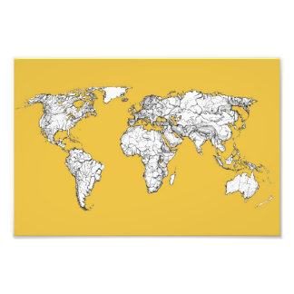 Atlas mustard drawing photographic print