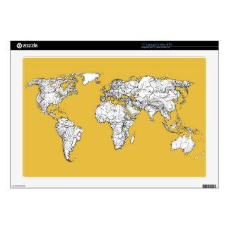 Atlas mustard drawing skin for laptop