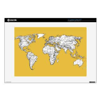 """Atlas mustard drawing 15"""" laptop skin"""