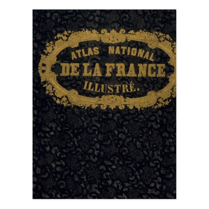 Atlas National De France Postcard