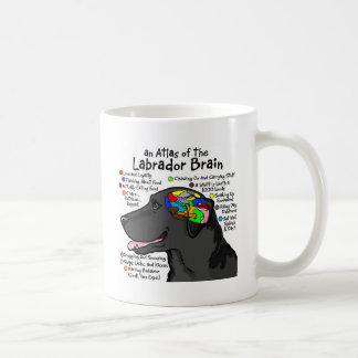 Atlas negro del cerebro de Labrador Taza De Café