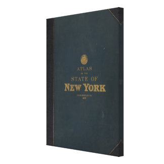 Atlas New York state Gallery Wrap Canvas