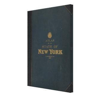 Atlas New York state Canvas Print