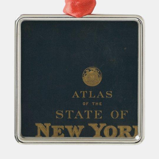 Atlas New York state Metal Ornament