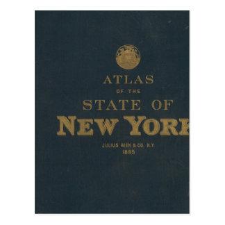 Atlas New York state Postcard