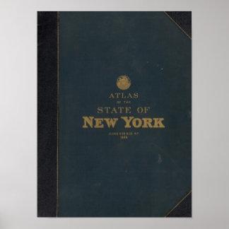 Atlas New York state Poster