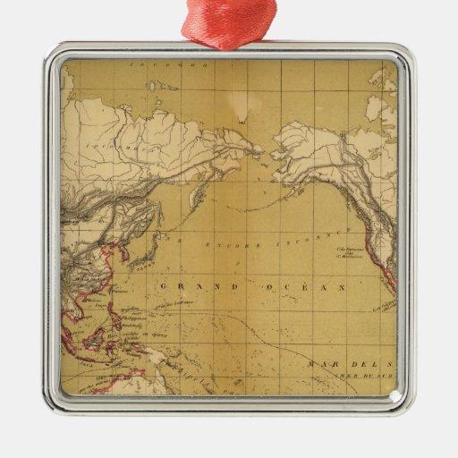 Atlas of 1550 square metal christmas ornament