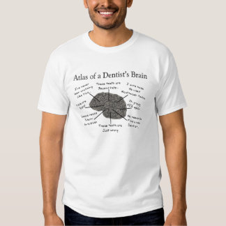 Atlas of a Dentist's Brain Tee Shirt