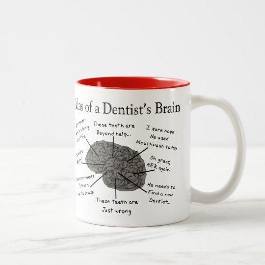 Atlas of a Dentist's Brain Two-Tone Coffee Mug