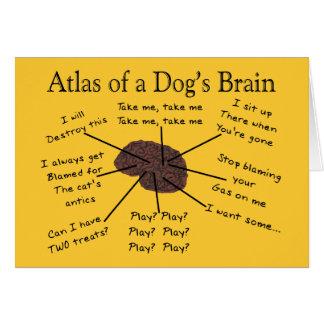 Atlas of a Dog's Brain Greeting Card