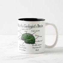 Atlas of a Geologist's Brain Funny Gifts Two-Tone Coffee Mug