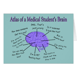 Atlas of a Medical Student s Brain 2 Greeting Cards