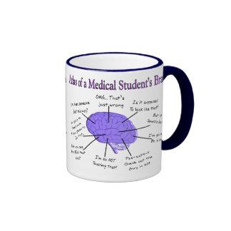 Atlas of a Medical Student's Brain #2 Ringer Coffee Mug