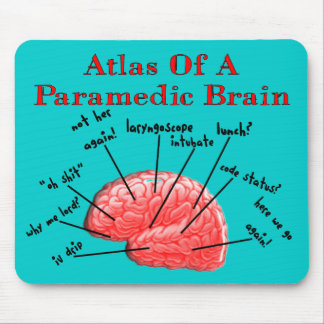 Atlas of a Paramedic Brain Mouse Pad