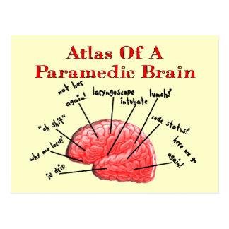 Atlas of a Paramedic Brain Postcard