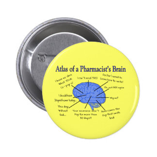 Atlas Of A Pharmacist's Brain-Hilarious Pin