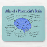 Atlas Of A Pharmacist's Brain-Hilarious Mouse Pad