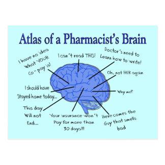 Atlas Of A Pharmacist's Brain-Hilarious Post Cards