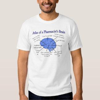 Atlas Of A Pharmacist's Brain-Hilarious Tee Shirts